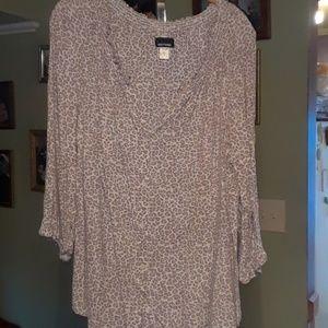 Basic Edition animal print blouse